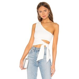 NWT Lovers + Friends Winona Top in White